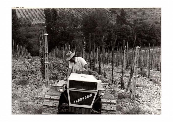 Val delle Corti Giorgio col trattore 1978