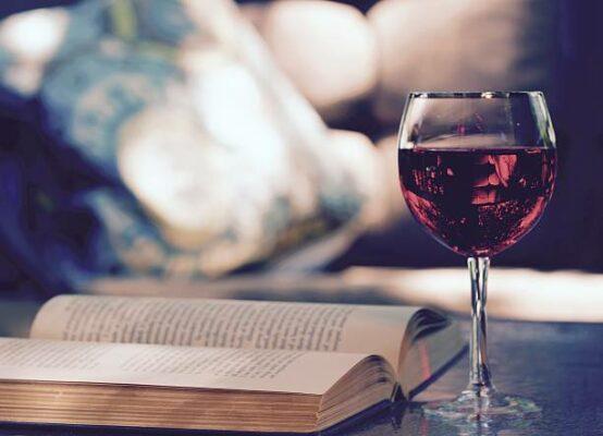Boek en wijn